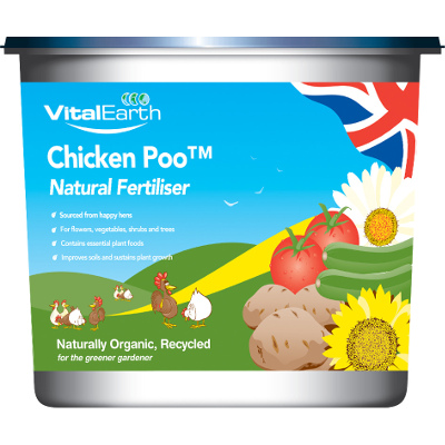80 x 7kg Vital Earth Chicken Poo Natural Fertiliser