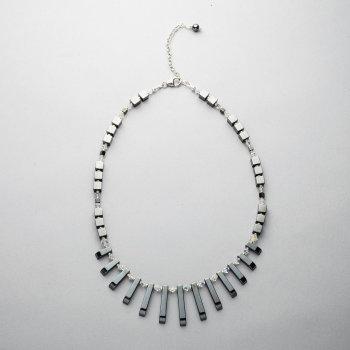 Necklace - Hematite and Swarovski crystals
