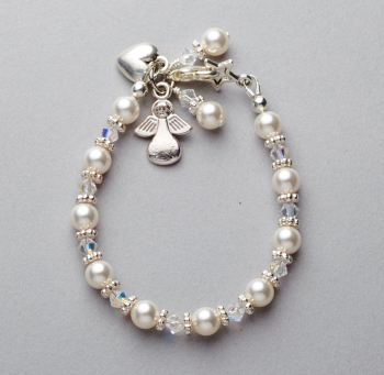 Bracelet - Swarovski pearl and crystal
