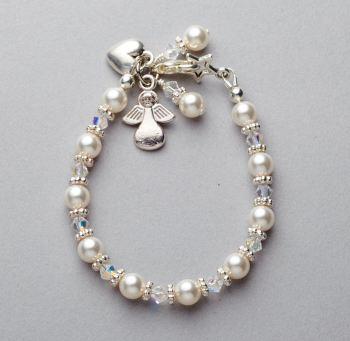 Bracelet - Swarovski pearl and crystal