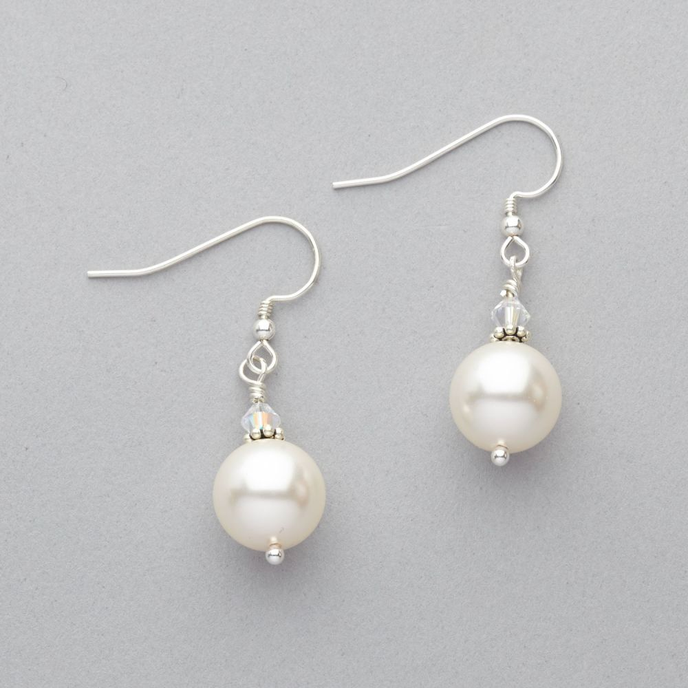 Earrings - Swarovski Pearl and Crystal