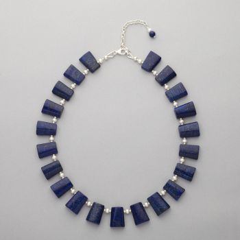 Necklace - Lapis lazuli and Swarovski pearls