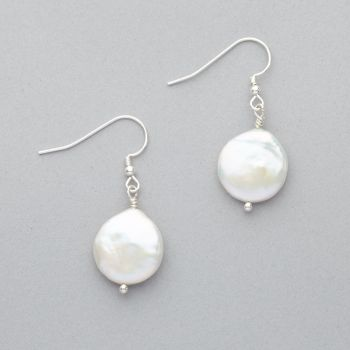 Earrings - Fresh Water Pearl - Sterling Silver