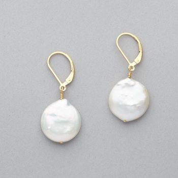 Earrings - Fresh Water Pearl  - 14 ct Gold Filled