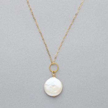 Necklace - Fresh water single pearl pendant