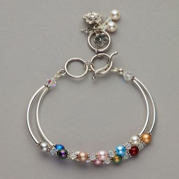 Bracelet - Swarovski pearl and crystals