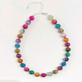Necklace - Faceted Agate