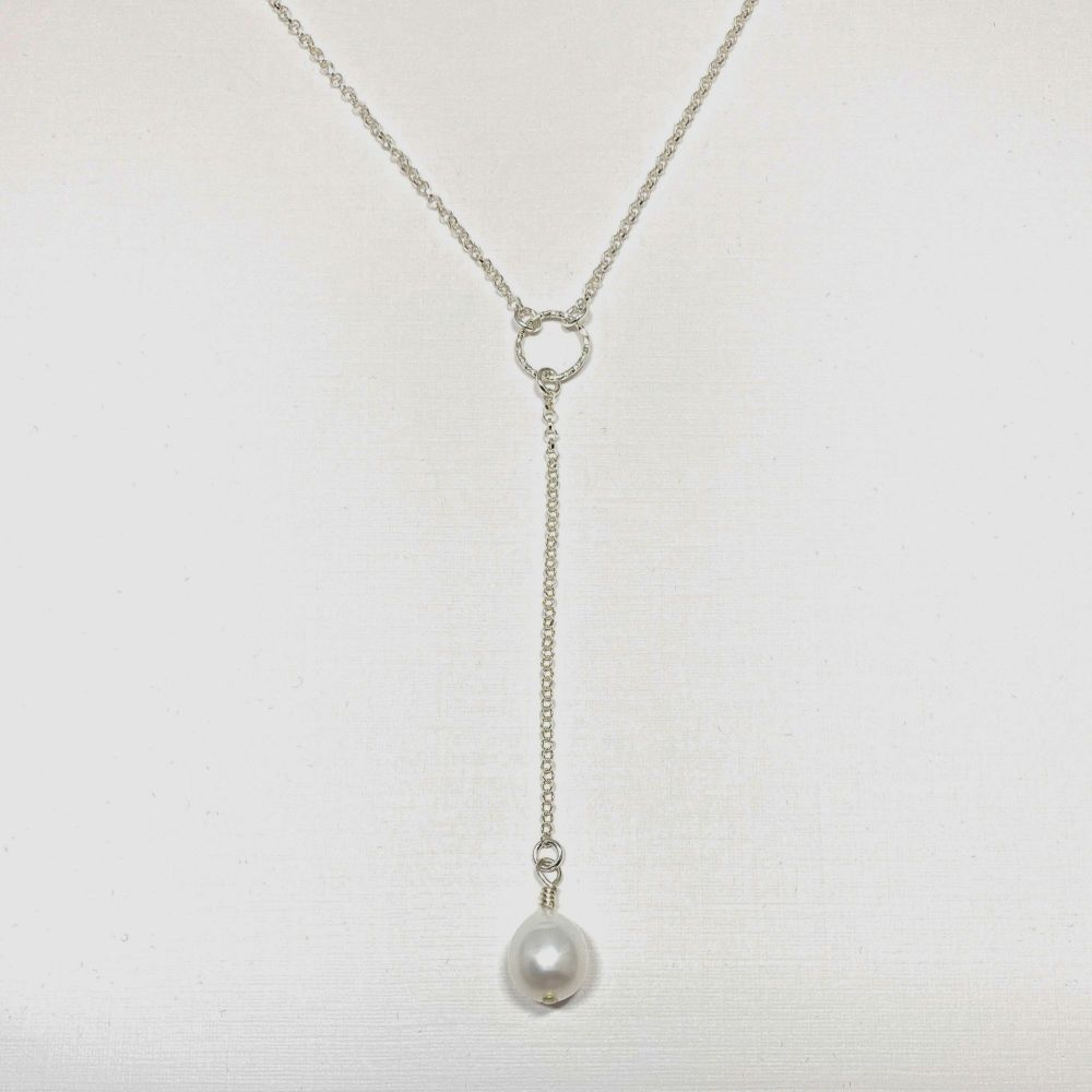 Necklace - Single Fresh Water Pearl Drop