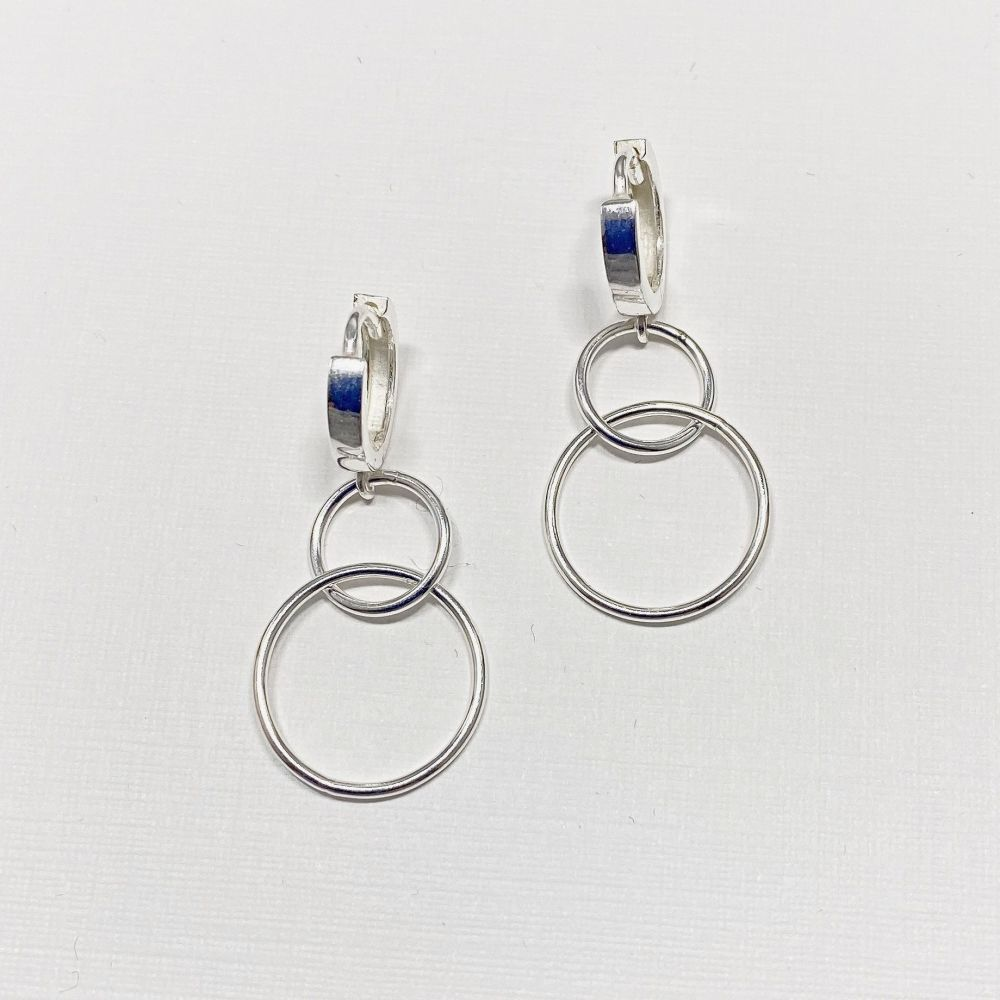 Earrings - Circle Double Loop
