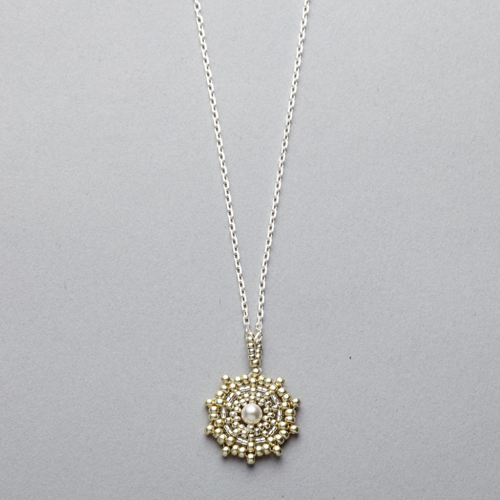 Necklace - Single Disc - Silver Chain