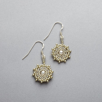 Earrings - Handstitched - Sterling Silver