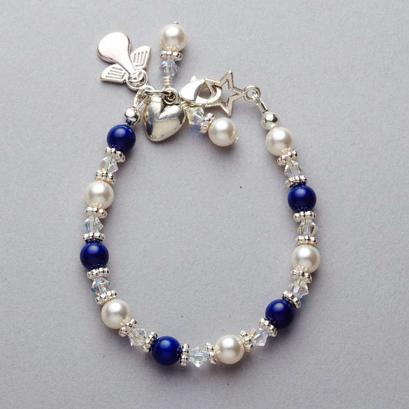 Navy and White Bracelet