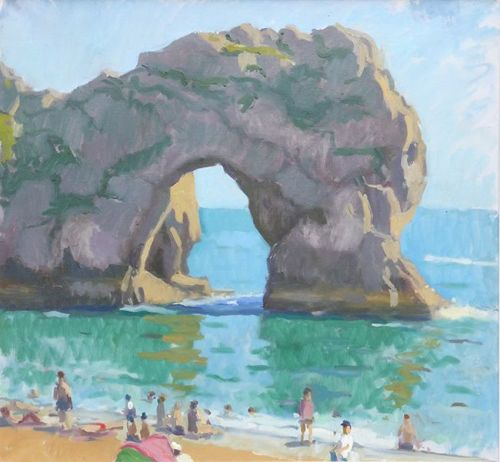 durdle_door_bathers_2