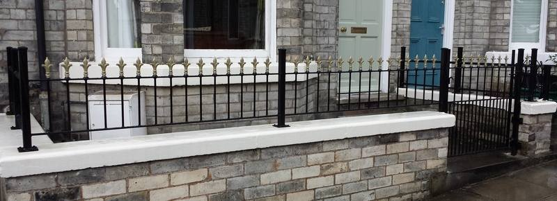 York Gates railings on coping stone