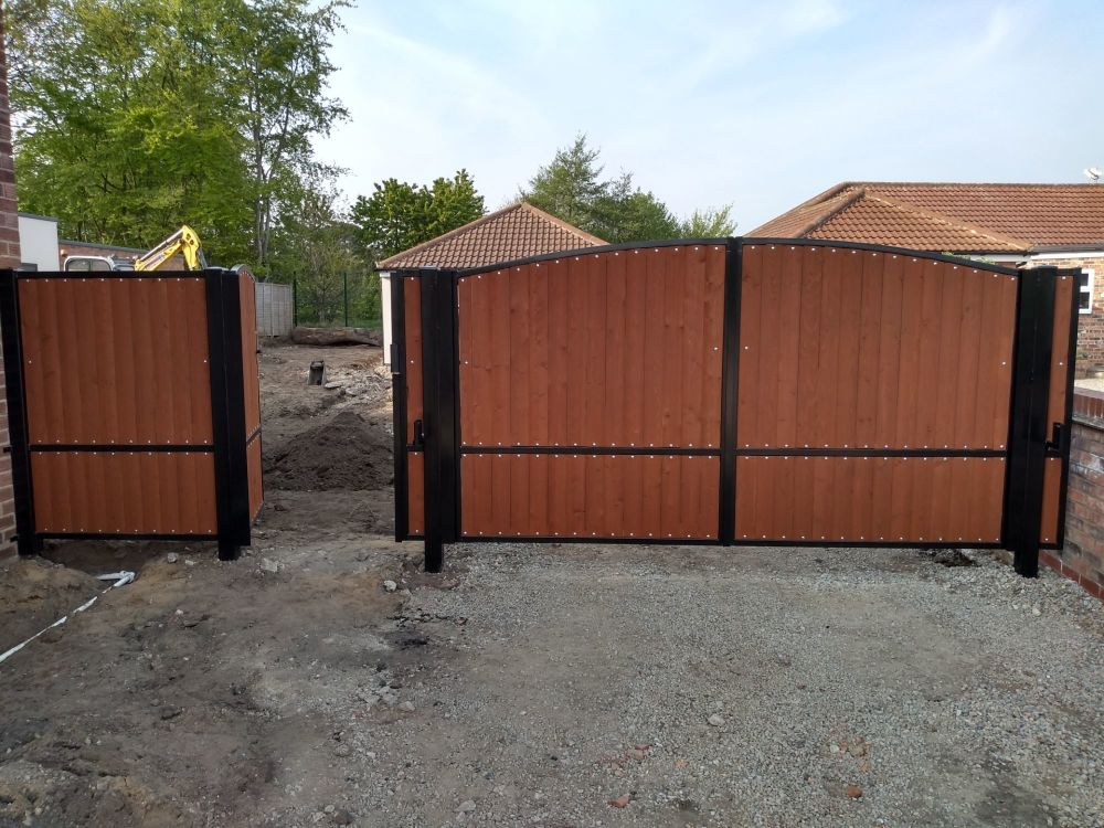 York Gates wood infill double single and matching panel