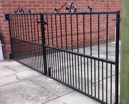 Metal Drive Gates