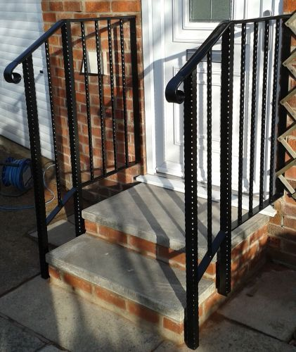 Hammered effect handrail