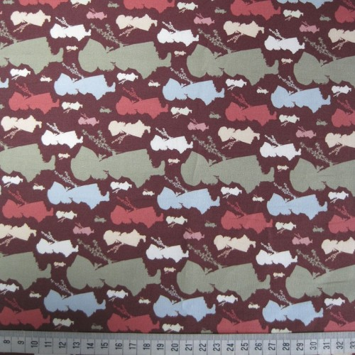 100% Cotton Holly Hobbie Multi-Colour Silhouettes