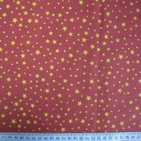 Stars - Red-Yellow - Polycotton