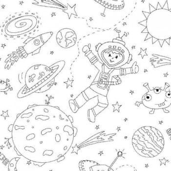 Michael Miller Fabric - Color Me To The Moon and Back