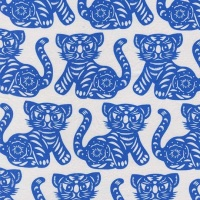Michael Miller Fabric - Seedling Growl (Azure)