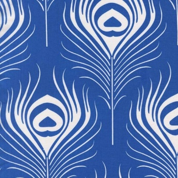Michael Miller Fabric - Seedling Peacock Plume (Azure)
