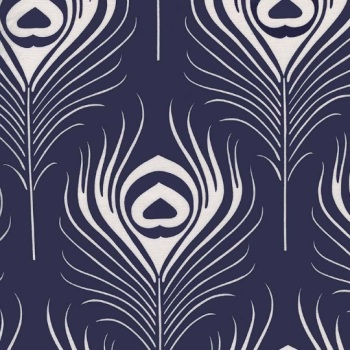 Michael Miller Fabric - Seedling Peacock Plume (Navy)