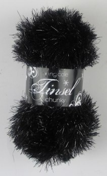 King Cole - Tinsel Chunky - Black