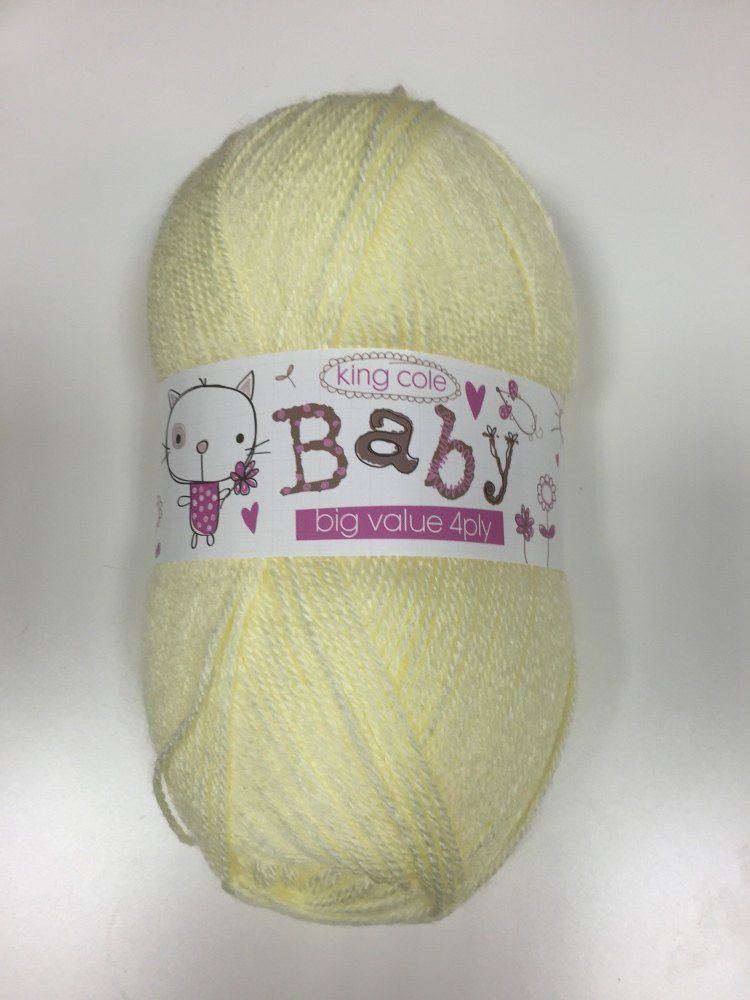 King Cole - Baby Big Value 4Ply - Primrose
