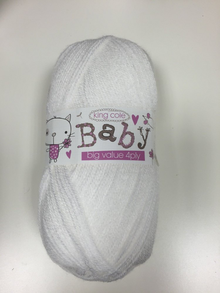 King Cole - Baby Big Value 4Ply - White
