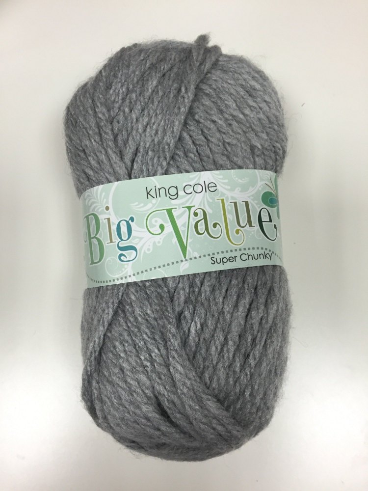 King Cole - Big Value Super Chunky - Grey