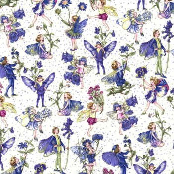 Michael Miller Fabric - Petite Fairies - Flower Fairies