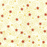 Swirling Stars - Cream - 100% Cotton
