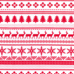 Christmas Medley - White - Polycotton