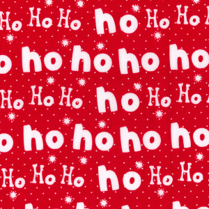 Laughing All The Way (Ho Ho Ho) - Red - Polycotton