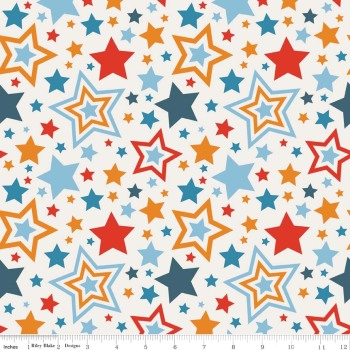 Riley Blake Designs Fabric - Lucky Star Collection Main Cream