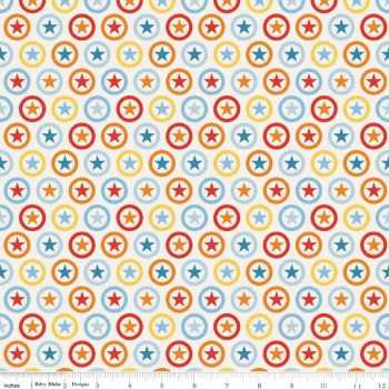 Riley Blake Designs Fabric - Lucky Star Collection Star Circle Cream