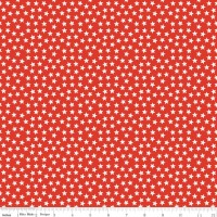 Riley Blake Designs Fabric - Lucky Star Collection Star Little Red