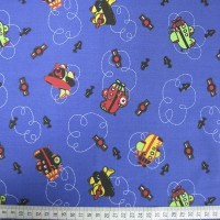 Planes - Royal Blue - Polycotton