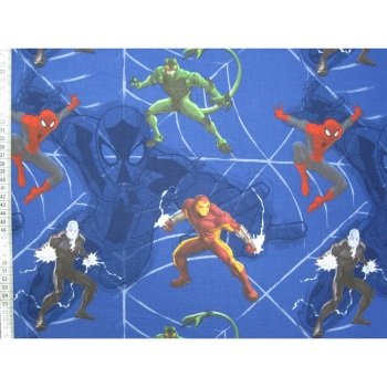 Spiderman (Blue) - Marvel Superheroes - 100% Cotton