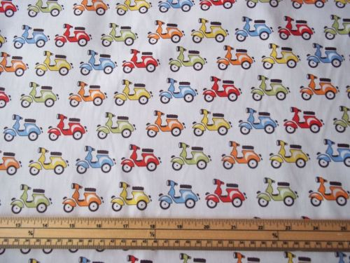 Scooters - White - 100% Cotton