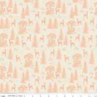 Riley Blake Designs Fabric - Woodland Spring Collection Friends Coral