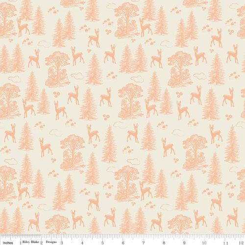 Woodland Friends Coral - Woodland Springs Collection - Riley Blake