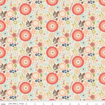 Riley Blake Designs Fabric - Woodland Spring Collection Floral Cream