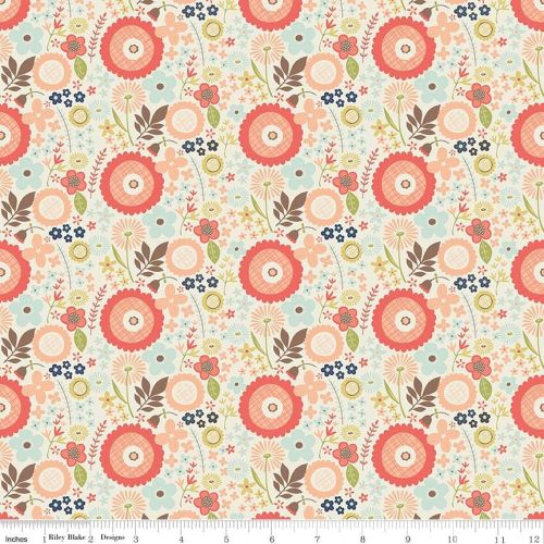 Woodland Floral Cream - Woodland Spring Collection - Riley Blake