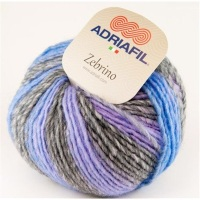 Adriafil Zebrino Aran Yarn - 66 Multi Purple Fancy - Wool Acrylic Mix