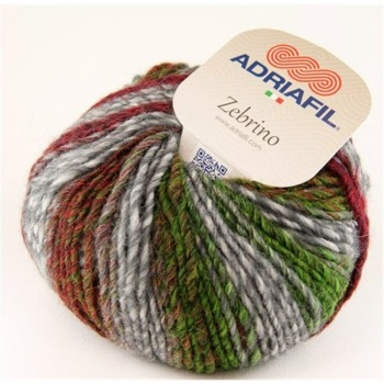 Adriafil Zebrino Yarn (Aran) - 64 Multi Colour Fancy Green Yellow Orange - Wool/Acrylic (53%/47%)