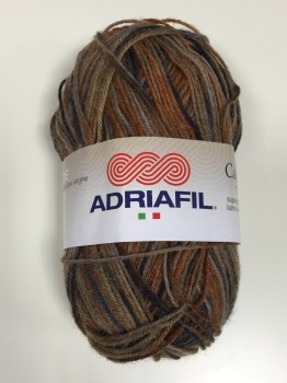 Adriafil Calzasocks Sock Yarn - 10 Multi-Brown - 75% Wool 25% Nylon