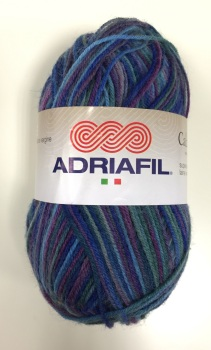 Adriafil Calzasocks Sock Yarn - 20 Multi-Purple - Wool/Nylon