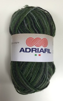 Adriafil Calzasocks Sock Yarn - 40 Multi-Green - Virgin Wool